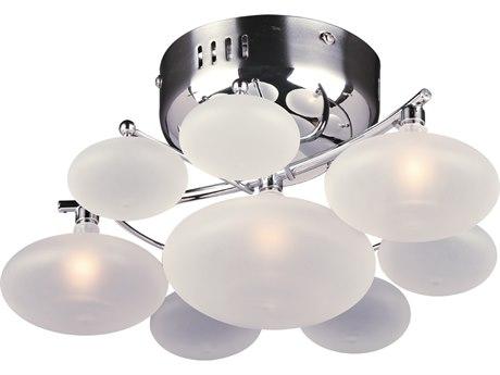 PLC Lighting Comolus Polished Chrome Three-Light 12'' Wide Semi Flush Mount Light PLC96940PC