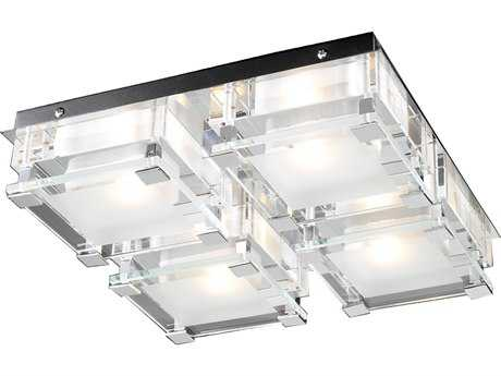 PLC Lighting Corteo Polished Chrome 12.5'' Wide Four-Light Flush Mount Light PLC18149PC
