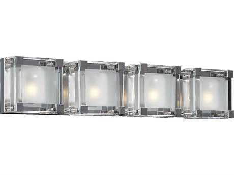 PLC Lighting Corteo Polished Chrome Four-Light Vanity Light PLC18144PC