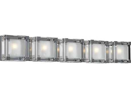 PLC Lighting Corteo Polished Chrome Five-Light Vanity Light PLC18145PC