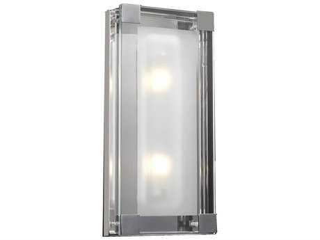 PLC Lighting Corteo Polished Chrome Two-Light Vanity Light PLC18148PC