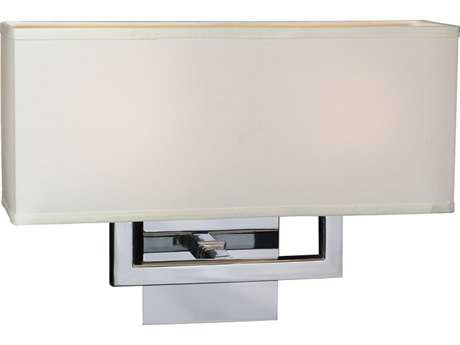 PLC Lighting Dream Polished Chrome Two-Light Incandescent Wall Sconce