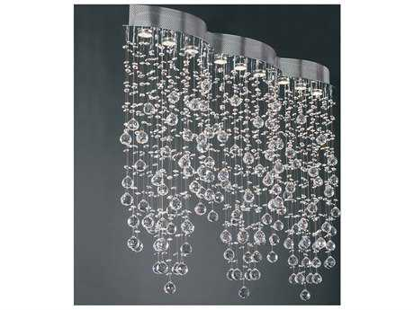 PLC Lighting Drizzle Polished Chrome 50'' Wide Nine-Light Island Light PLC81627PC