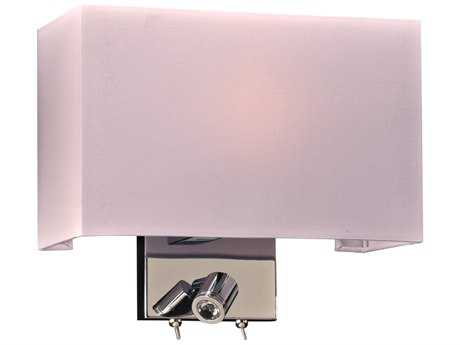 PLC Lighting Duke Polished Chrome Incandescent Wall Sconce