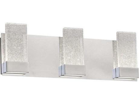 PLC Lighting Farella Polished Chrome Three-Light 20'' Wide LED Vanity Light PLC40013PC