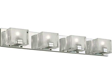 PLC Lighting Filigre Polished Chrome Four-Light 33'' Wide LED Vanity Light PLC84424PC