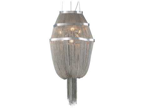 PLC Lighting Formae Satin Nickel 24'' Wide Six-Light Chandelier PLC70015SN