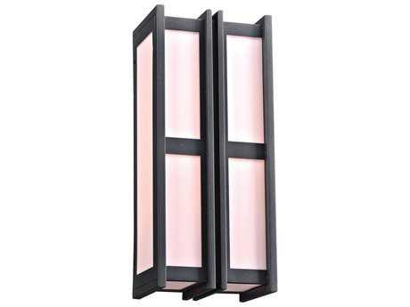 PLC Lighting Freeport Bronze Two-Light Incandescent Outdoor Wall Light