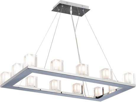 PLC Lighting Glacier Polished Chrome 31'' Wide 12-Light Island Light PLC3488PC