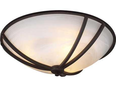PLC Lighting Highland Oil Rubbed Bronze 16'' Wide Three-Light Incandescent Flush Mount Light (Sold in 2) PLC14863ORB