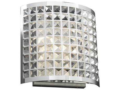 PLC Lighting Jewel Polished Chrome Two-Light Incandescent Vanity Light PLC18186PC