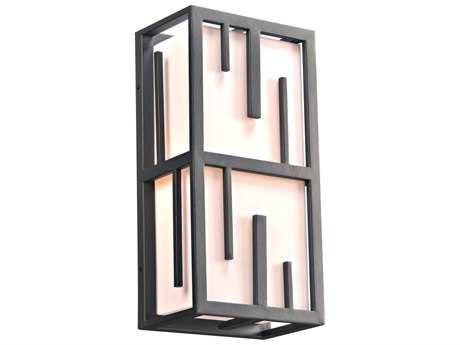 PLC Lighting Keller Bronze 18'' High Two-Light Incandescent Outdoor Wall Light