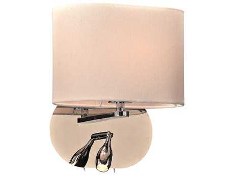 PLC Lighting Mademoiselle Polished Chrome Incandescent Wall Sconce PLC24216PC