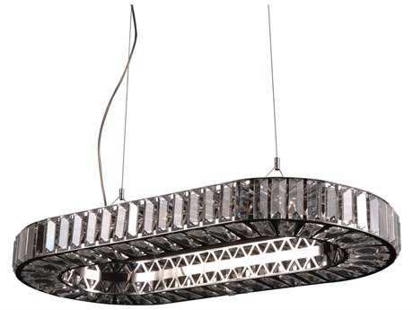 PLC Lighting Marquee Polished Chrome 32'' Wide 12-Light Halogen Island Light PLC90048PC