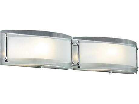 PLC Lighting Millennium Polished Chrome Two-Light Halogen Wall Sconce PLC7824PC