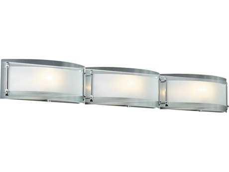 PLC Lighting Millennium Polished Chrome Three-Light Halogen Wall Sconce PLC7836PC