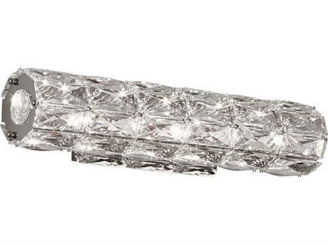 PLC Lighting Miramar Polished Chrome 18'' Wide LED Wall Sconce PLC90107PC