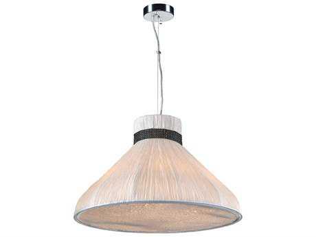 PLC Lighting Nepro Ivory 24'' Wide Five-Light Incandescent Pendant PLC73020IVORY