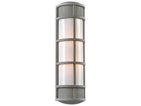 PLC Lighting Olsay Silver Two-Light Incandescent Outdoor Wall Light