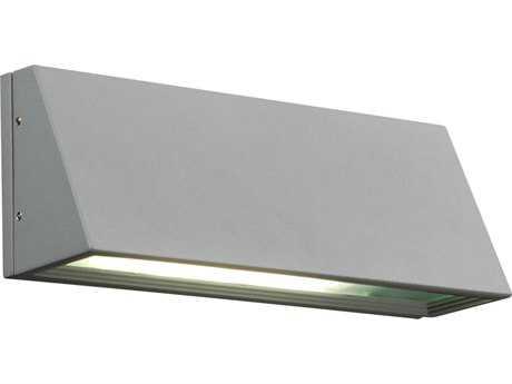 PLC Lighting Origo Silver Incandescent Outdoor Wall Light (Sold in 2)