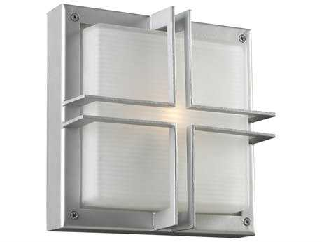PLC Lighting Piccolo Silver Incandescent Outdoor Wall Light