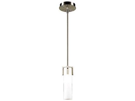PLC Lighting Polipo Satin Nickel 5'' Wide LED Mini-Pendant Light PLC931SNLED