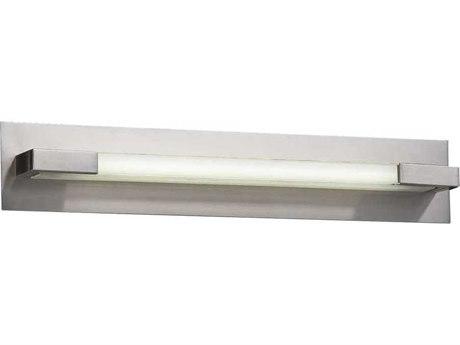 PLC Lighting Polis Satin Nickel 27'' Wide LED Vanity Light PLC1044SNLED