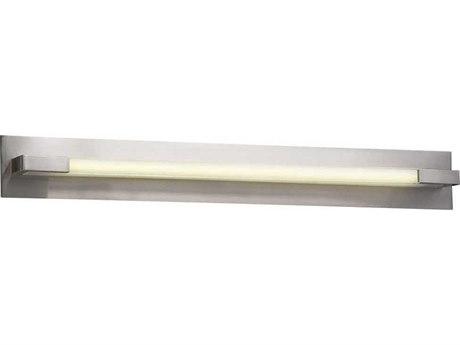 PLC Lighting Polis Satin Nickel 39'' Wide LED Vanity Light PLC1046SNLED