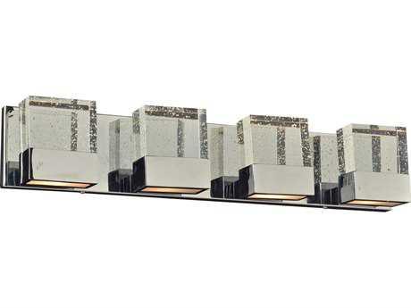 PLC Lighting Regis Polished Chrome Four-Light Halogen Vanity Light PLC1654PC
