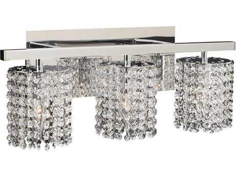 PLC Lighting Rigga Polished Chrome Three-Light Incandescent Wall Sconce PLC72194PC