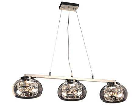 PLC Lighting Rokka Polished Chrome 38'' Wide Six-Light Halogen Island Light PLC92953PC