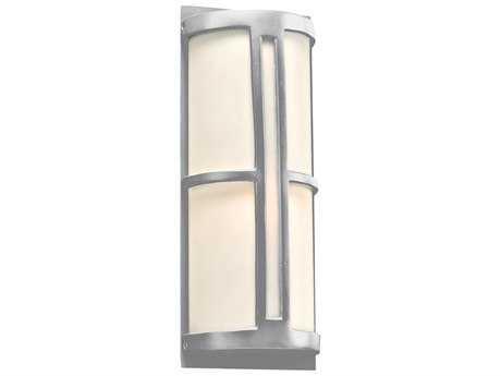 PLC Lighting Rox Silver Incandescent Outdoor Wall Light (Sold in 2) PLC31736SL