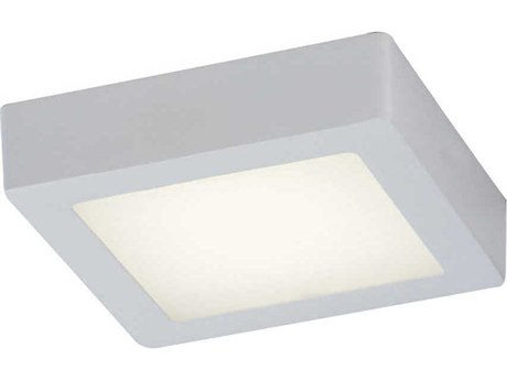 PLC Lighting Rubix White 7'' Wide LED Flush Mount Light PLC7410WH