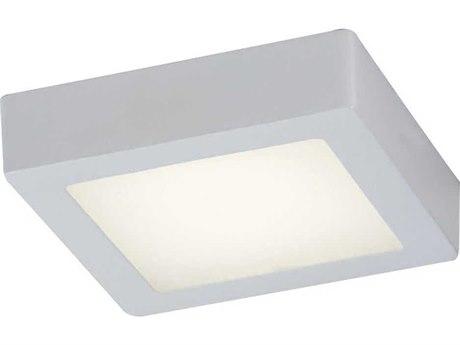 PLC Lighting Rubix White 9'' Wide LED Flush Mount Light PLC7412WH