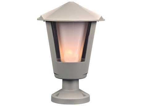 PLC Lighting Silva Silver Incandescent Outdoor Wall Light