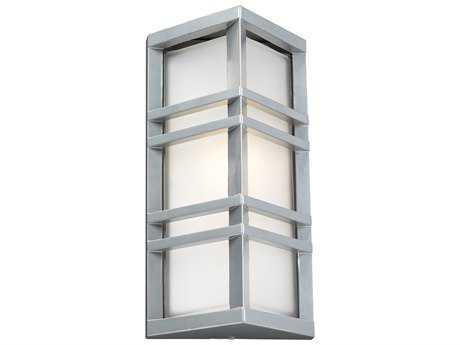 PLC Lighting Trevino Silver Incandescent Outdoor Wall Light PLC8020SL