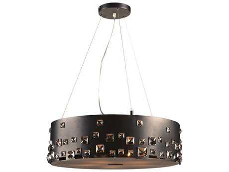 PLC Lighting Twilight Black 24'' Wide Five-Light Halogen Pendant PLC81395BK