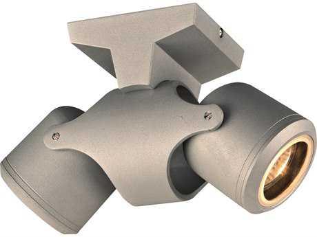 PLC Lighting Vela Silver Two-Light LED Outdoor Wall & Ceiling Light