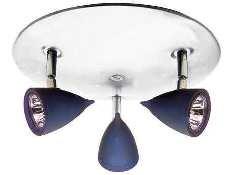 PLC Lighting Vetro White 11'' Wide Three-Light Halogen Spot Light (Sold in 2) PLC8113BLUEWH