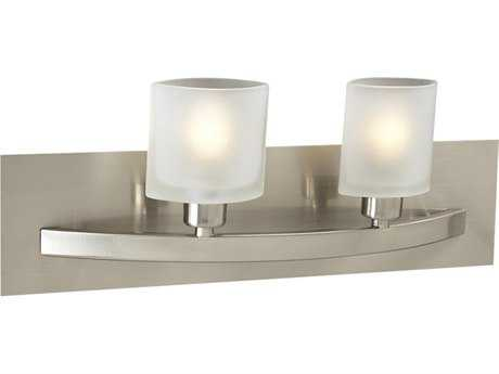 PLC Lighting Wyndham Satin Nickel Two-Light Halogen Vanity Light (Sold in 2) PLC642SN