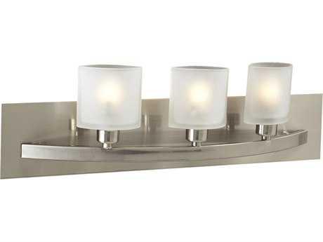 PLC Lighting Wyndham Satin Nickel Three-Light Halogen Vanity Light (Sold in 2)