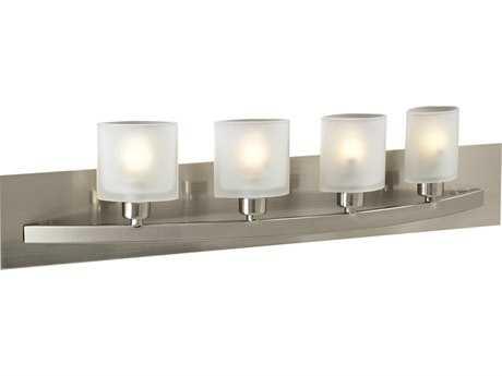 PLC Lighting Wyndham Satin Nickel Four-Light Halogen Vanity Light PLC644SN