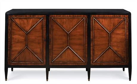Port Eliot Black / Mahogany Buffet PETPE777MB