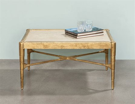 Port Eliot Lefleur Gold 40'' Wide Rectangular Coffee Table PETPC6440LG