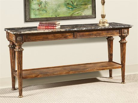 Port Eliot Marble Top / Walnut 54'' Wide Rectangular Console Table PETPC7854FW