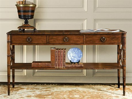 Port Eliot Mahogany / Bamboo 64'' Wide Rectangular Console Table