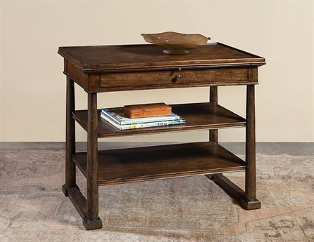 Port Eliot French Walnut 40'' Wide Rectangular End Table