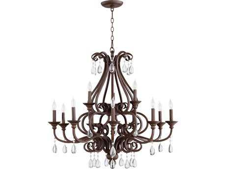 Quorum International Anders Oiled Bronze 12-Light 34'' Wide Chandelier QM60131286