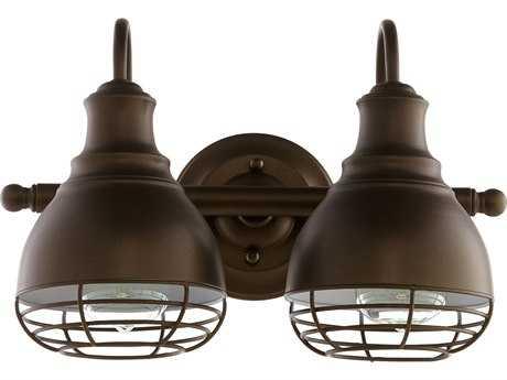 Quorum International Arbor Oiled Bronze Two-Light Vanity Light QM5363286