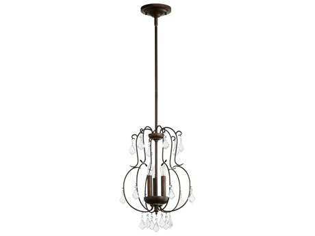 Quorum International Ariel Vintage Copper Three-Light 13'' Wide Pendant Light QM6905339
